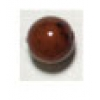 Glass Bead 7mm Marble Brown Strung